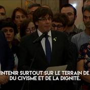 Catalogne indépendante : Puigdemont appelle les habitants au