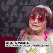 Agnès Varda reçoit un Oscar d'honneur pour l'ensemble de son oeuvre