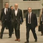 Les membres du gouvernement catalan arrivent au tribunal de Madrid
