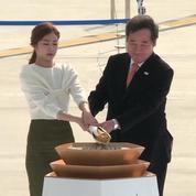 JO d'hiver 2018: la flamme olympique arrive en Corée du Sud