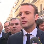 Macron rend hommage à Johnny