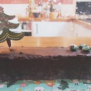 Une bûche de Noël sans four ni micro-ondes