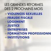 Le calendrier des réformes