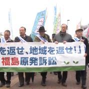 A Fukushima, des habitants manifestent contre l'Etat japonais et Tepco