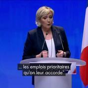 Ce qu'il fallait retenir du discours de Marine Le Pen