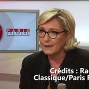 Marine Le Pen : «Ceux qui prônent l'union des droites n'ont pas compris qu'il y a une grande recomposition de la vie politique française»