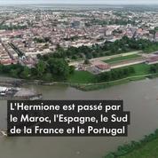 Le bateau l'Hermione rentre en France