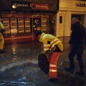 Violents orages : le centre-ville de Morlaix (Bretagne), inondé