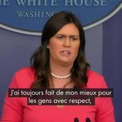La porte-parole de la Maison Blanche, Sarah Sanders, virée d'un restaurant