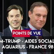Points de vue du 12 juin : Trump-Kim, aides sociales, Aquarius, France 98