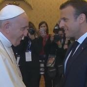 Emmanuel Macron rencontre le pape François au Vatican
