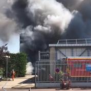 Les images de l'incendie qui paralyse la gare Montparnasse