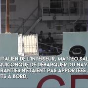 Migrants : le navire Diciotti ne peut pas débarquer