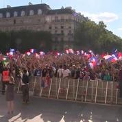 Mondial 2018 : des milliers de supporters rassemblés à Paris