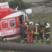 Viaduc de Gênes : les blessés évacués par hélicoptère