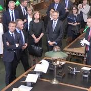 Emmanuel Macron visite la bibliothèque royale de Copenhague