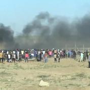 Manifestation à la frontière entre Gaza et Israël