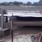 Italie : de fortes pluies provoquent l'effondrement partiel d'un pont autoroutier