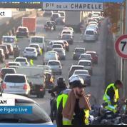 «Gilets jaunes» : le périphérique bloqué porte de Saint-Ouen, un journaliste Figaro Live est sur place