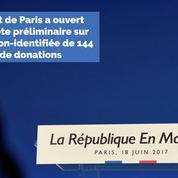 La République en Marche visée par une enquête sur l'origine de 144 000 euros de dons