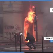 «Gilets jaunes» : Une agence LCL incendiée devant la caméra de Figaro Live (1er décembre)