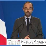 Édouard Philippe : «Je suspends pour une durée de 6 mois les mesures fiscales»