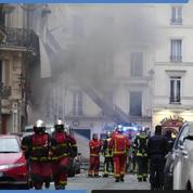 Explosion rue de Trévise : les pompiers et la police sur place