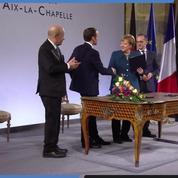 Emmanuel Macron et Angela Merkel ont signé le traité d'Aix-la-Chapelle