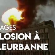 Des bouteilles de gaz explosent sur le toit de l'université de Villeurbanne