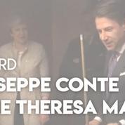 Le président italien défie Theresa May au billard