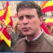 Manuel Valls défile avec la droite espagnole pour «défendre la constitution»