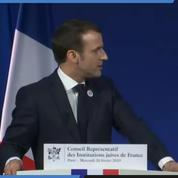 Antisémitisme : Macron s'exprime au dîner du Crif