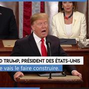 Devant le Congrès, Trump confirme sa volonté de construire un mur