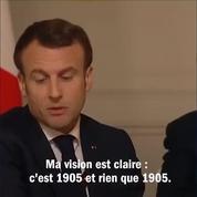 loi de 1905 : un recul de Macron ?