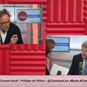 Philippe de Villiers est l'invité de la matinale Radio Classique – Le Figaro
