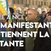 Nice : grande manifestation en soutien à la militante blessée