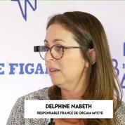 Delphine Nabeth d'OrCam présente le dispositif MyEye au Big Bang Eco du Figaro