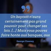 George Clooney appelle au boycott de plusieurs palaces, dont deux parisiens