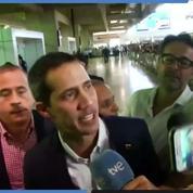 Juan Guaido acclamé par la foule à son arrivée à Caracas