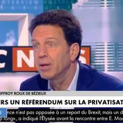ADP : «Je suis favorable à la privatisation», déclare Geoffroy Roux de Bézieux, (Medef)