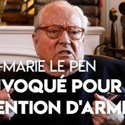 La justice convoque Jean-Marie Le Pen pour détention d'armes