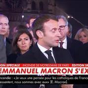 Emmanuel Macron : «Le pire a été évité, cette cathédrale, nous la rebâtirons»