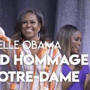 Notre-Dame : Michelle Obama rend hommage à la cathédrale ravagée