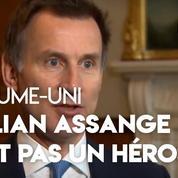 «Julian Assange n'est pas un héros», assure le ministre britannique des affaires étrangères