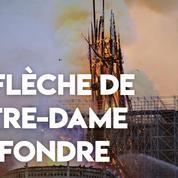 La flèche de Notre-Dame de Paris s'est effondrée