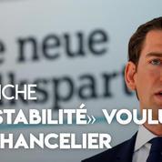 Autriche : son parti au coeur de la tourmente, le chancelier Kurz promet «de la stabilité»