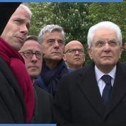 Notre-Dame : le président italien visite la cathédrale endommagée
