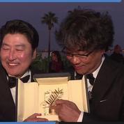 Le Président du Jury Iñárritu et le Lauréat Bong Joon-Ho réagissent à la palme d'or