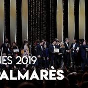 Le palmarès du Festival de Cannes 2019