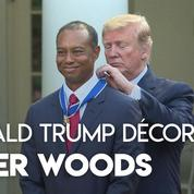 Tiger Woods décoré par Donald Trump